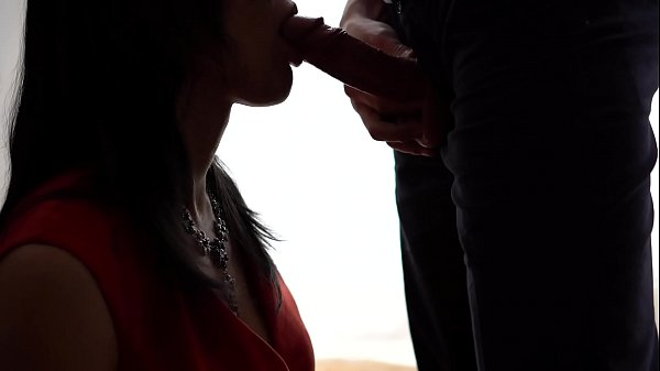 Cum in mouth, Amateur wife, Dressed, Red dress