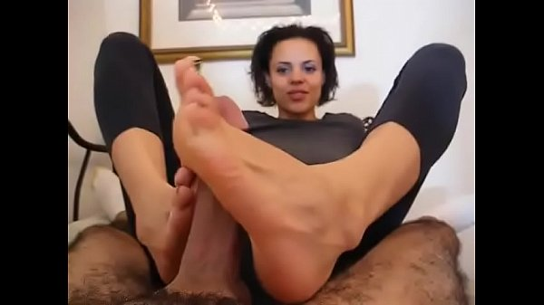Footjob, Ebony footjob